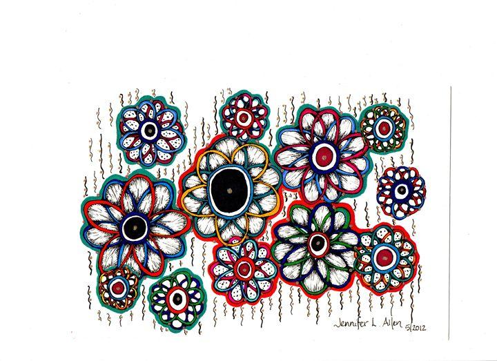 Infinity Flowers - jlallen artfull designs