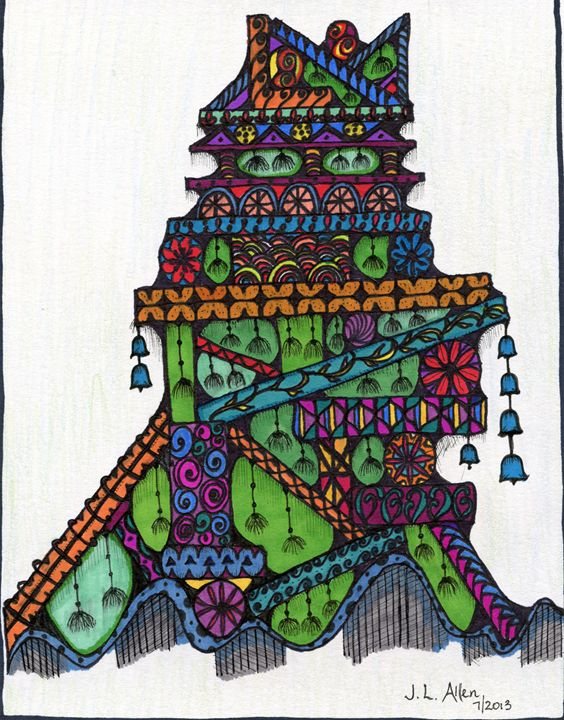 Modern Pagoda - jlallen artfull designs