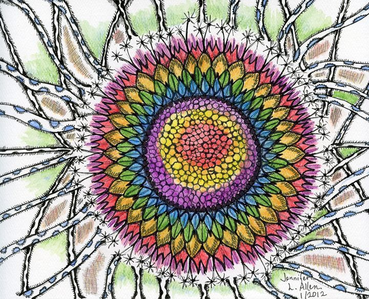 Rainbow Dandelion - jlallen artfull designs