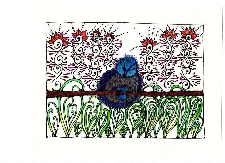 Little Bird At Rest - jlallen artfull designs