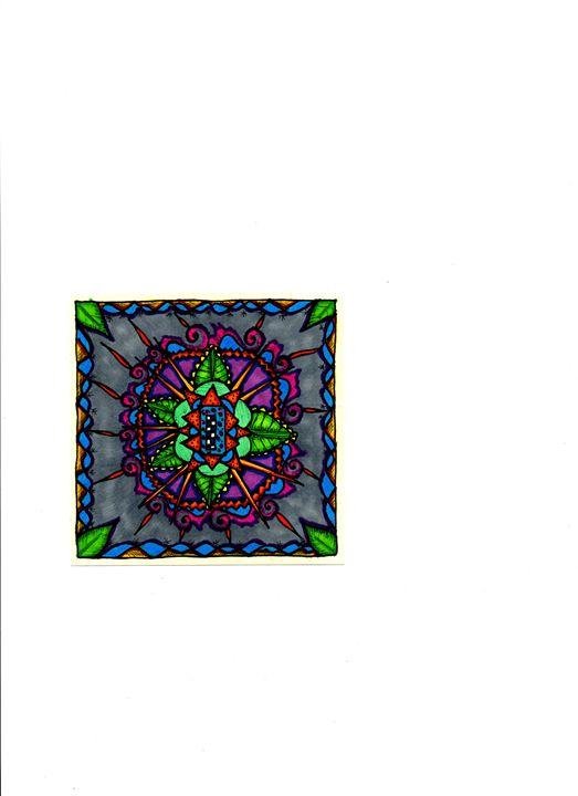 Spring Leaf Mandala - jlallen artfull designs