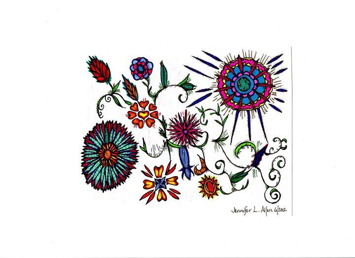 Spirit Flowers - jlallen artfull designs