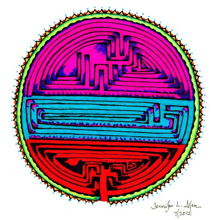 A-Mazed Mandala - jlallen artfull designs