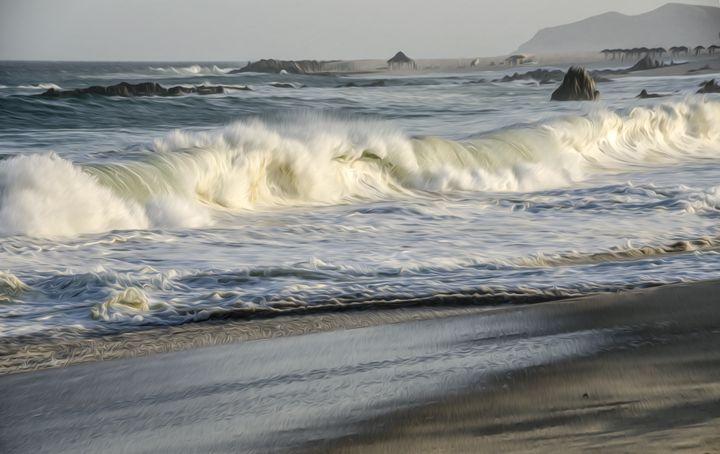 Waves at Los Cabos - Created by Laurel