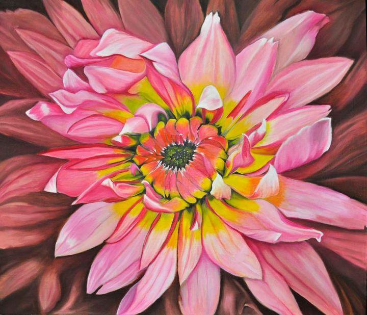 Pink Dahlia blossom (78) - Flower Art Gallery