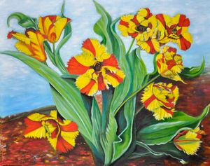 Yellow & Red Tulips (86)