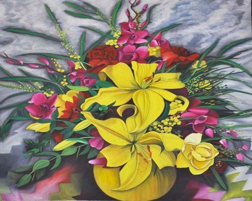 Yellow Lilies still life (101) - Flower Art Gallery