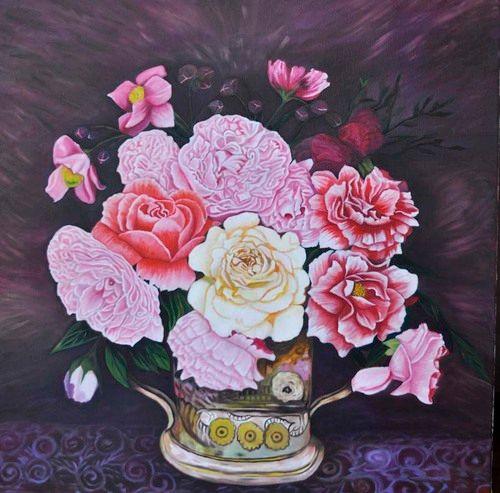 Pink White & Red Peonies (108) - Flower Art Gallery