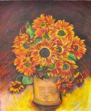 orange sunflower still life