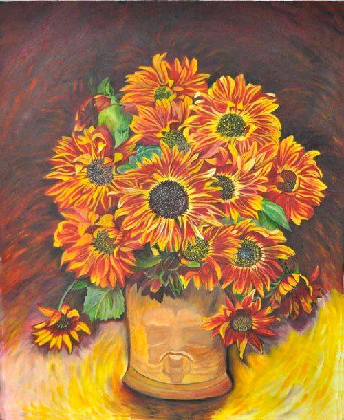 Orange sun flowers (60) - Flower Art Gallery