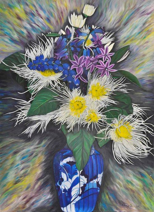 White Spider Lily (174) - Flower Art Gallery