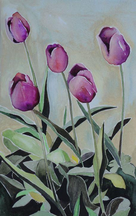 Violet Tulips - Valleria