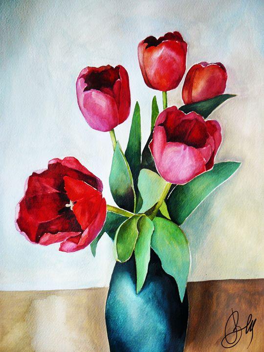 Red tulips - Valleria