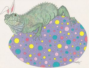 Iguana wish you a Happy Easter