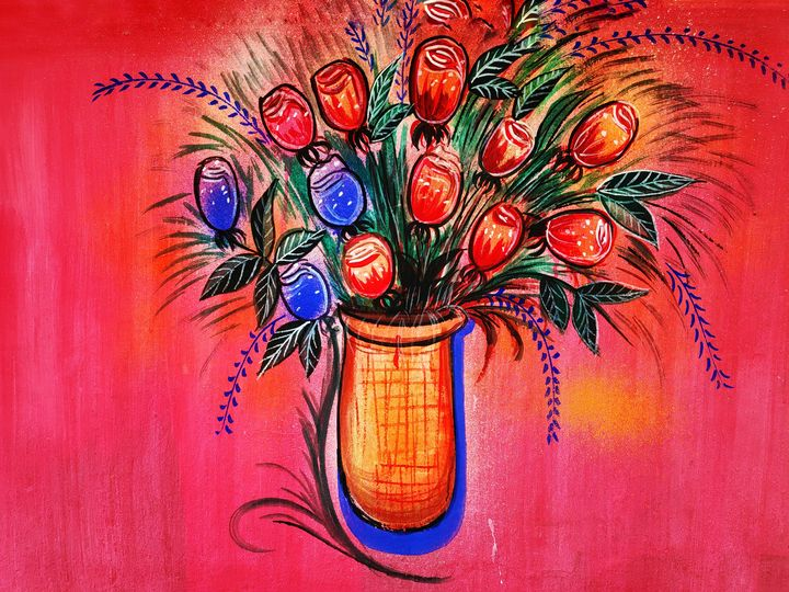 Bouquet of flower - India Tribal Art