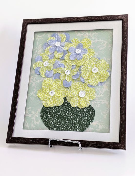 Olive Green/Blue Flowers - Lienka Frames