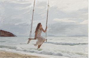 swinging with the sound of the ocean - CAROLYN SCHUSTER