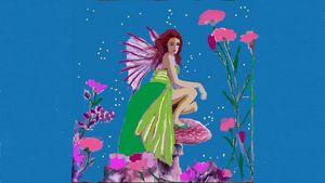 Lime green angel - CAROLYN SCHUSTER