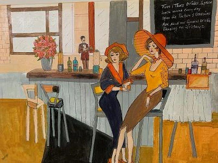 Evening at the Bar - CAROLYN SCHUSTER