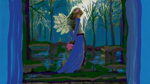 Angel in the Night Forest - CAROLYN SCHUSTER