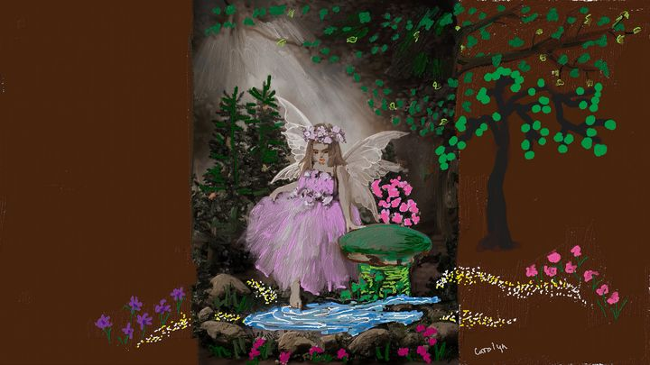 Little Fairy in the Enchanted Forest - CAROLYN SCHUSTER