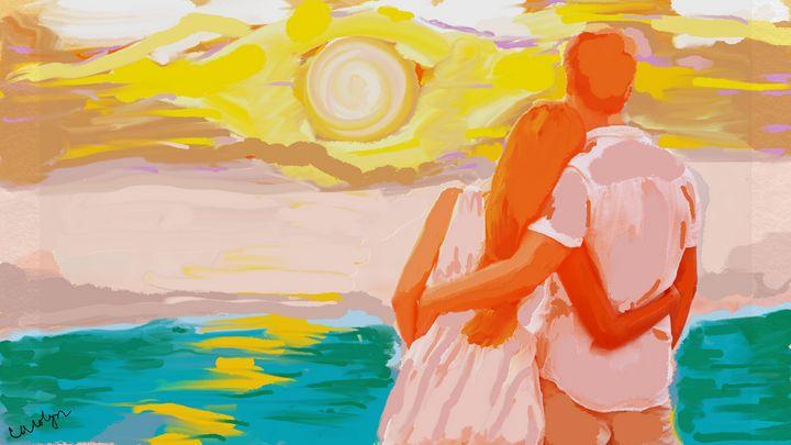 A Beautiful Sunset - CAROLYN SCHUSTER
