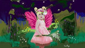 Baby Girl in the Garden - CAROLYN SCHUSTER