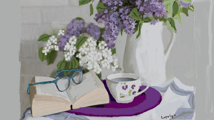 Lilacs and coffee - CAROLYN SCHUSTER