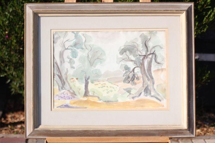 Shimshon Holtzman - Trees - Original Jewish Art