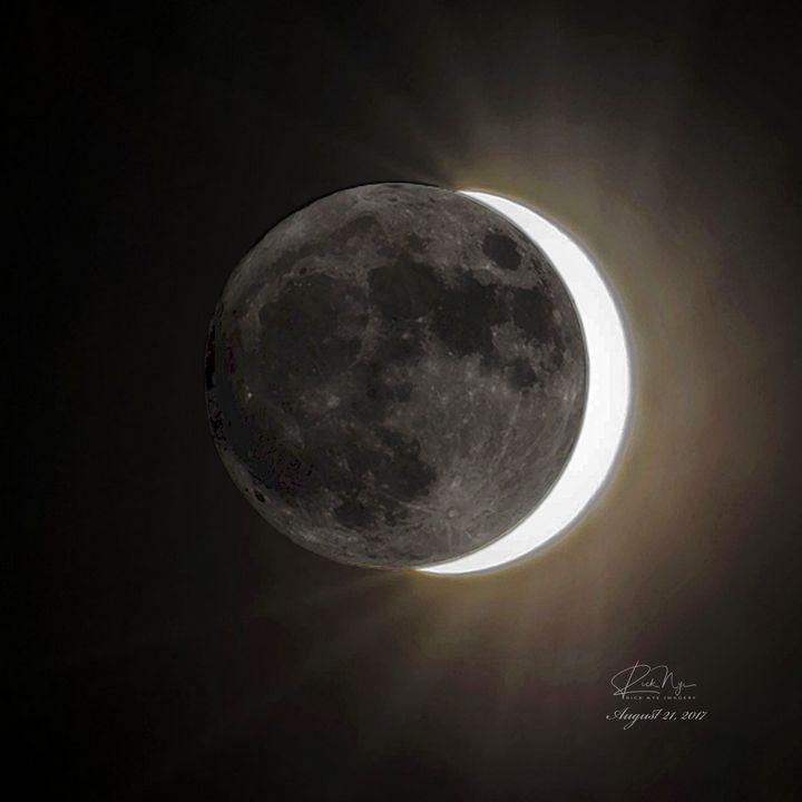 Solar Eclipse - Rick Nye's Art On Canvas