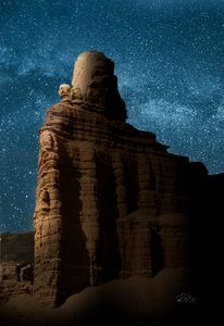Chimney Rock Under The Stars - Rick Nye's Art On Canvas