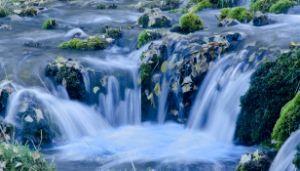 Blue Waterfall - Rick Nye's Art On Canvas