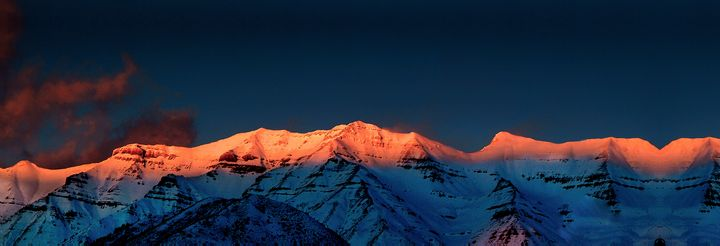 Sunset on Mt. Timpanogos - Rick Nye's Art On Canvas
