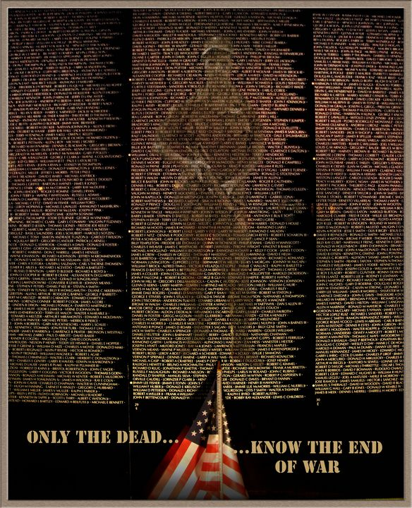 Only The Dead Know The End Of War - Rick Nye's Art On Canvas
