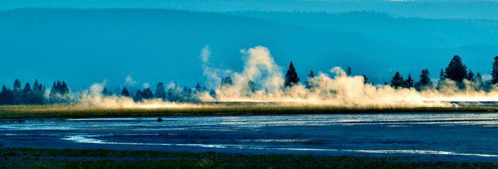 Summer Blues, Yellowstone - Rick Nye's Art On Canvas