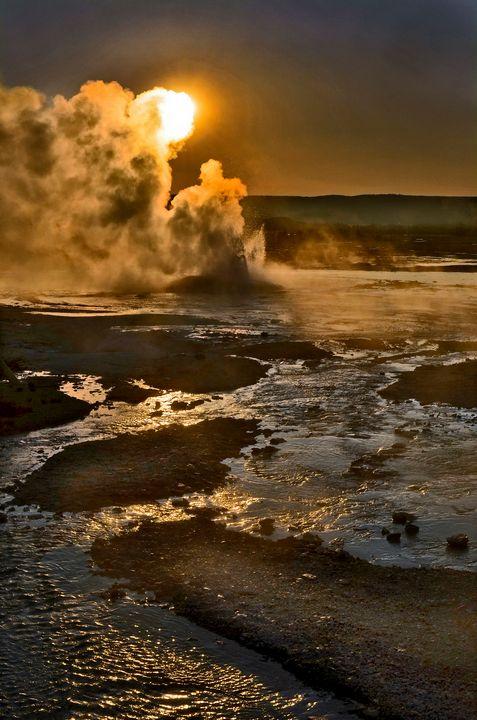 Nature's Fury, Yellowstone - Rick Nye's Art On Canvas