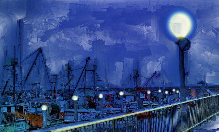 Night Lights - Rick Nye's Art On Canvas