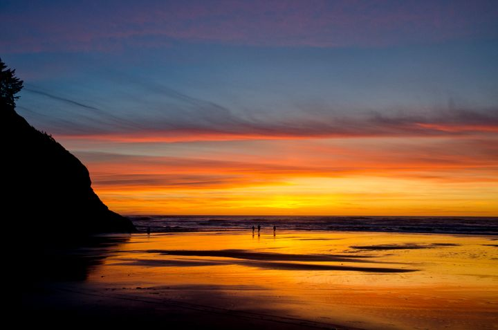 Oregon Coast Sunset - Rick Nye's Art On Canvas