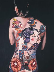 Japanese Lady Body Painting