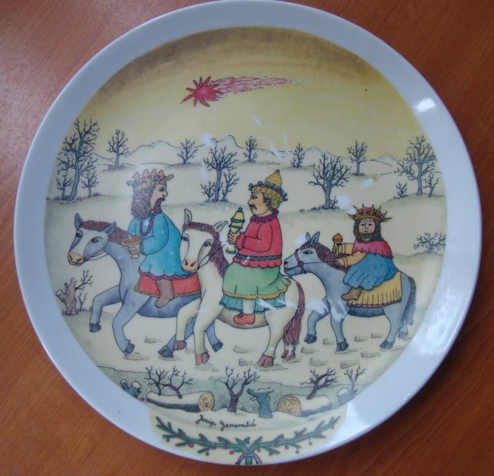JOSIP GENERALIĆ - oslikani tanjur - Josip Kolar