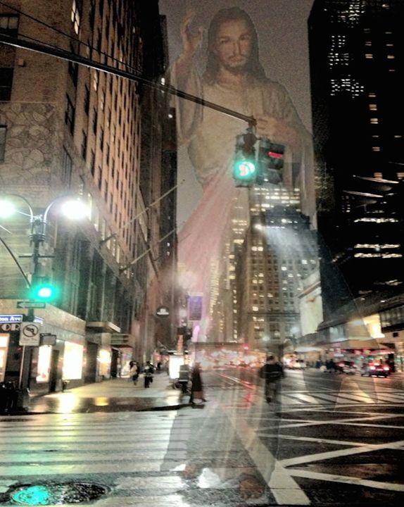 Jesus Strolls The City - Tina Mancusi
