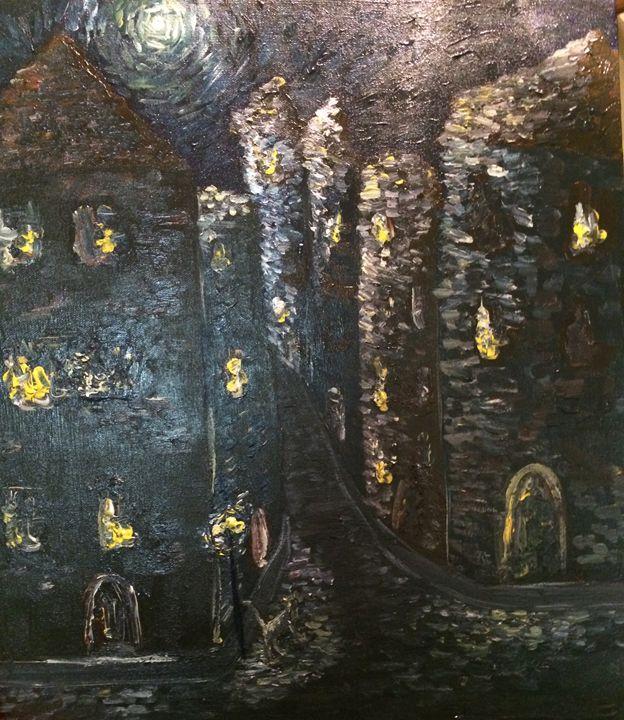 Black Cat in the Night - Kalen Olson