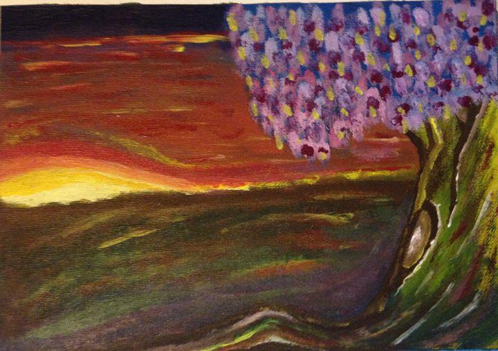 Tree Sunset - Derek Long