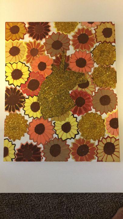 Unicorn in sunflowers - LR