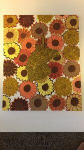 Unicorn in sunflowers