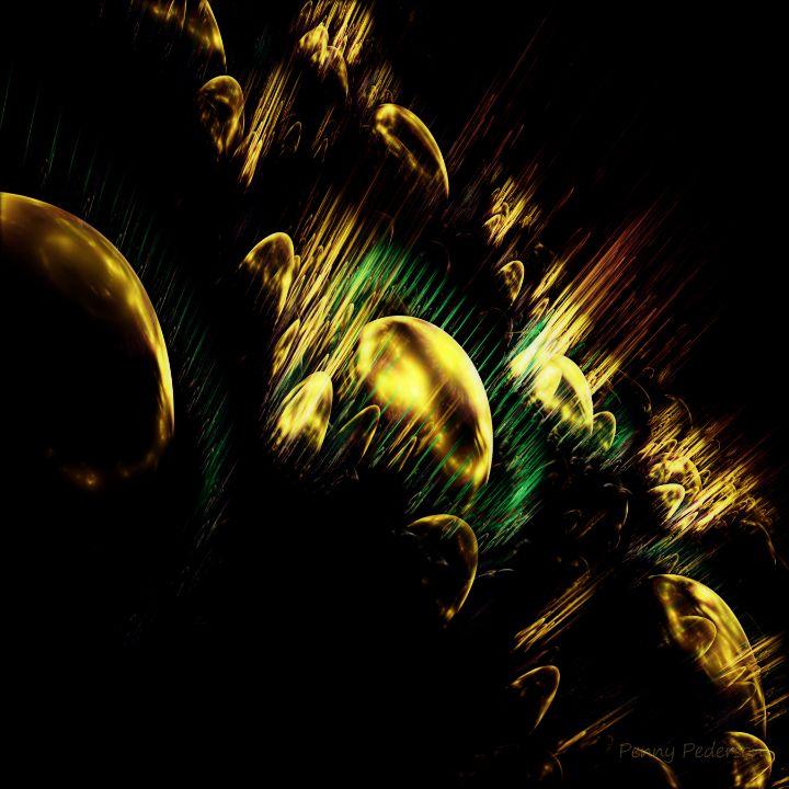 3D Golden Globes - Mysterious Imagination