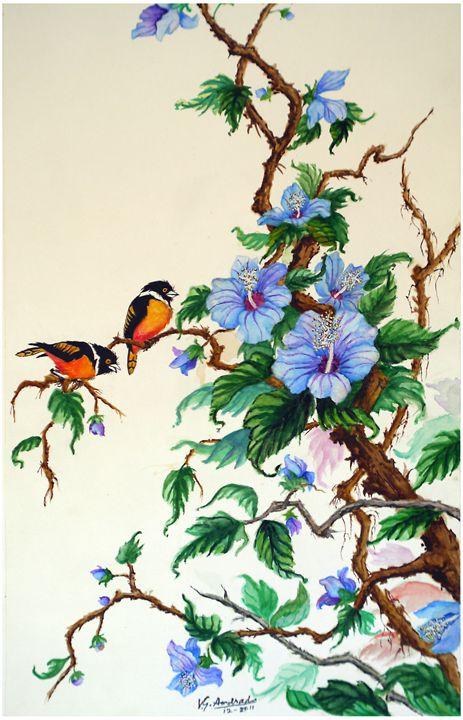 Hibiscus - José De Andrade artworks