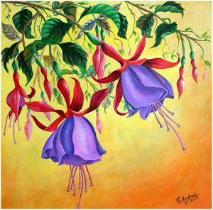 Fuchsia flowers - José De Andrade artworks