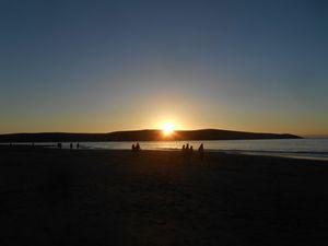 Dusk Beach Scene