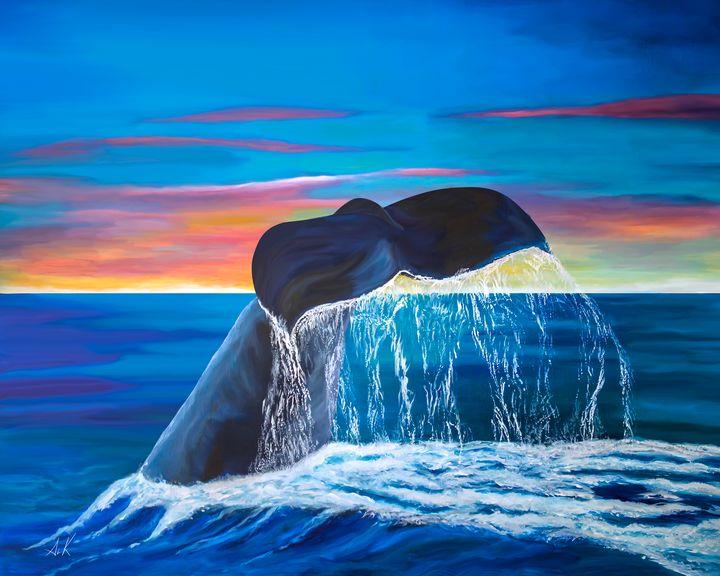Sunset Whale Tail - Albert Kopper